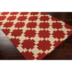 Hand-Woven Queens Bay Wool Area Rug (8' x 11') - Thumbnail 1