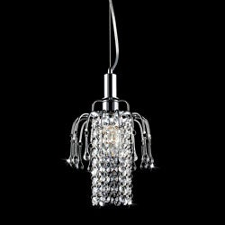 Galina Crystal Sparkles and Crystal Droplet Pendant Chandelier