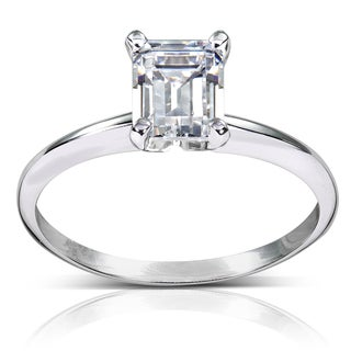 Annello by Kobelli 14k White Gold 1ct TDW Diamond Solitaire Engagement Ring (H-I, SI1-SI2