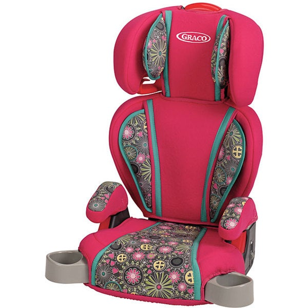 graco highback turbobooster car seat in ladessa pink free shipping today. Black Bedroom Furniture Sets. Home Design Ideas