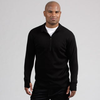 Minus33 Men's 'Kobuk' Black Merino Wool Expedition Weight 1/4-zip Base Layer Shirt (More options available)