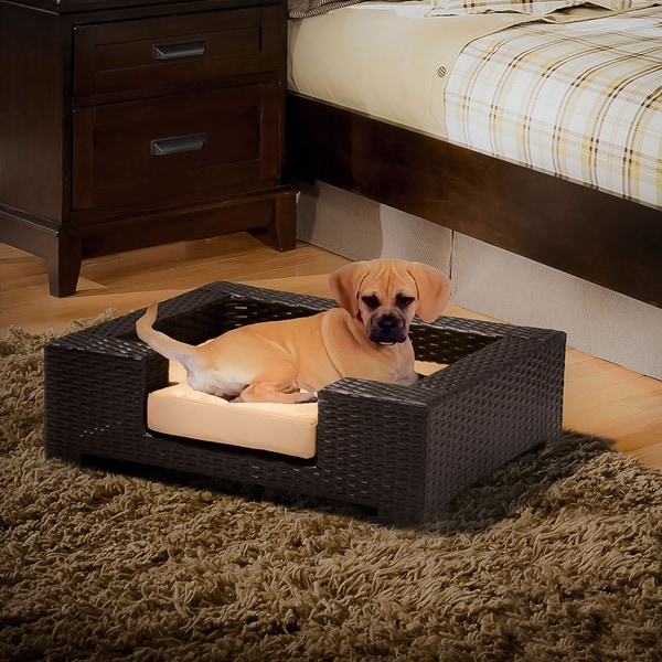 Penelope Wicker Dog Bed by Christopher Knight Home