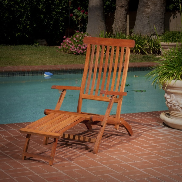 Christopher Knight Home Enrico Foldable Wood Lounge Chair