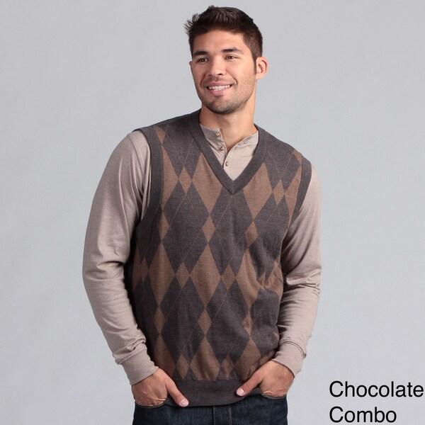 Chereskin Men's Argyle V-neck Vest