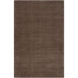 Hand-crafted Solid Brown Casual Mantra Wool Rug (5' x 8')