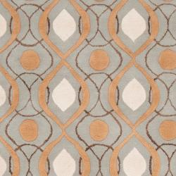Candice Olson Hand-tufted 'Cane' Gray Moroccan Tile Pattern Wool Rug (3'3 x 5'3) - Thumbnail 2