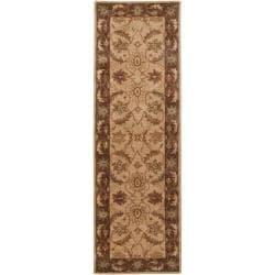 Hand-tufted Caven Beige New Zealand Wool Rug (2'6 x 8')