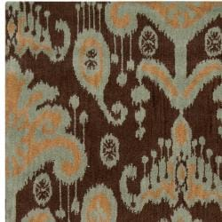 Hand-tufted 'Mosse' Brown New Zealand Wool Rug (8' x 11')