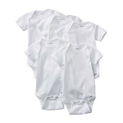 Gerber White One-pieces (Pack of 5)