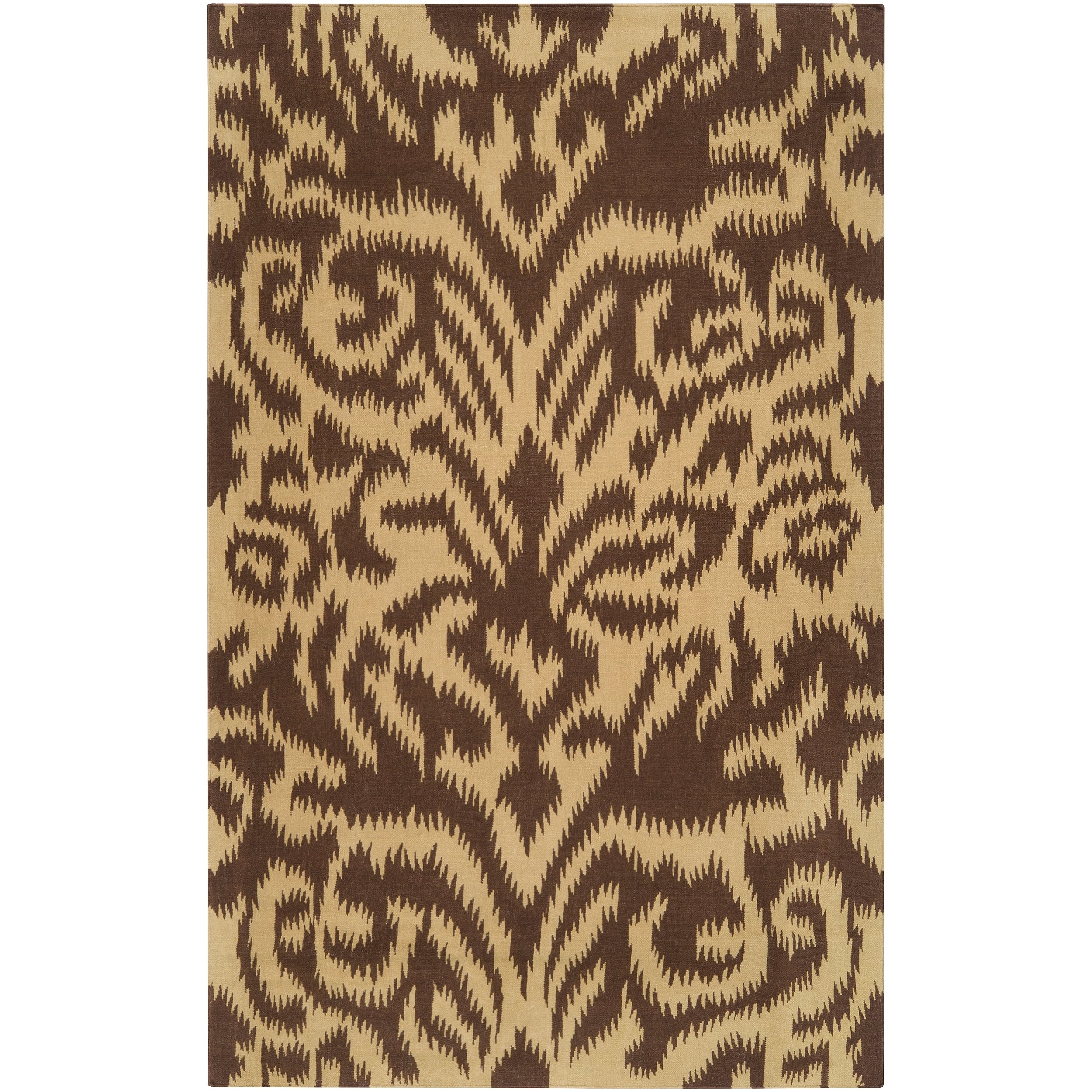 Hand-woven 'Saged' Brown Wool Rug (3'3 x 5'3)