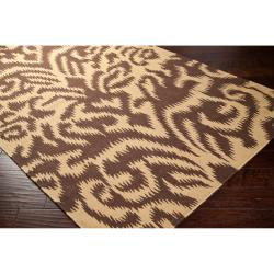 Hand-woven 'Saged' Brown Wool Rug (3'3 x 5'3) - Thumbnail 1