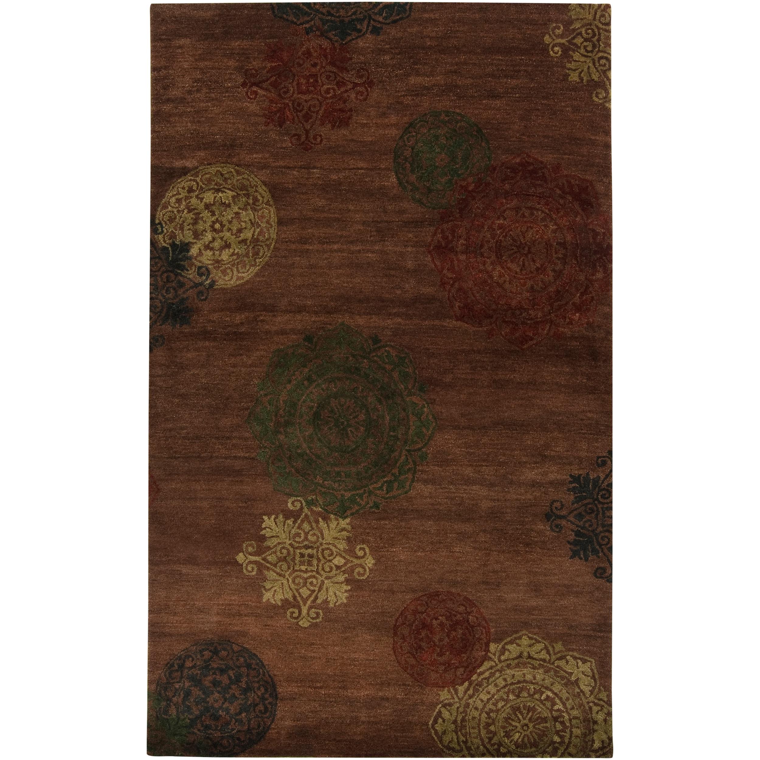 Hand-tufted Ferus Brown New Zealand Wool Rug (5' x 8')