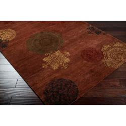 Hand-tufted Ferus Brown New Zealand Wool Rug (5' x 8') - Thumbnail 1
