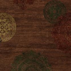 Hand-tufted Ferus Brown New Zealand Wool Rug (5' x 8') - Thumbnail 2