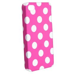 Pink with Dot Case/ Screen Protector for Apple iPhone 4/ 4S - Thumbnail 1