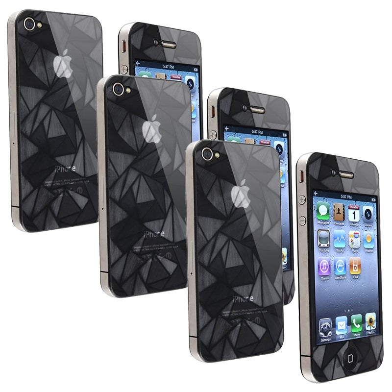 INSTEN Front/ Back Diamond Screen Protector for Apple iPhone 4/ 4S (Set of 3)