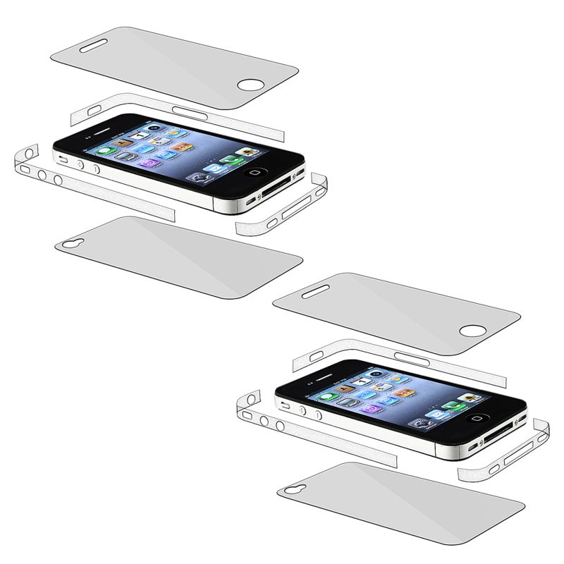 INSTEN Full Body and Edge Screen Protector for Apple iPhone 4 AT&T