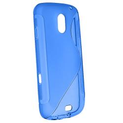 Blue TPU Case/ Screen Protector for Samsung Galaxy Nexus i515 - Thumbnail 1