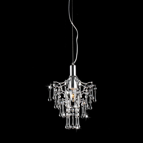 Helena Chrome and Crystal Droplet Chandelier
