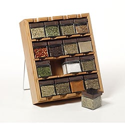 Kamenstein16 Cube Bamboo Inspirations Spice Rack