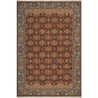 Hand-knotted Brown Smokehouse E New Zealand Wool Area Rug (6' x 9')