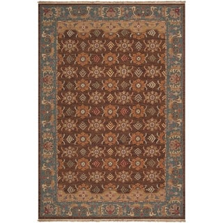 Hand-knotted Brown Smokehouse E New Zealand Wool Area Rug - 6' x 9'