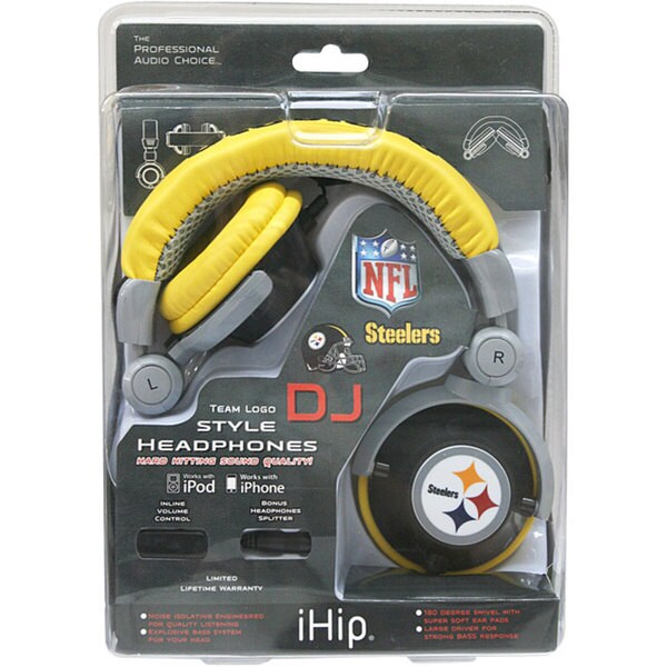 6810483e iHip Pittsburgh Steelers NFL DJ Headphones