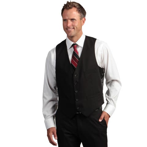 Kenneth Cole Reaction Men's Slim Fit Black Suit Separate Vest