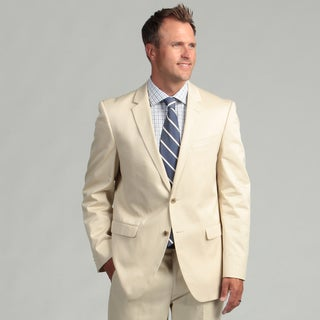 Kenneth Cole New York Cotton Slim Fit Tan Suit Separate Coat