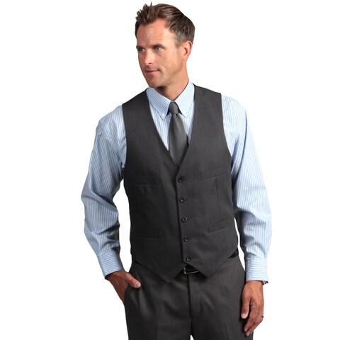 Kenneth Cole Reaction Men's Slim Fit Solid Grey Suit Separate Vest