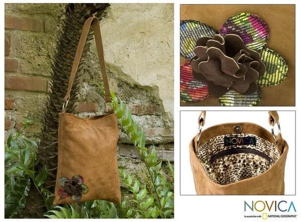 Leather 'Guatemala Fall' Medium Shoulder Bag (Guatemala)