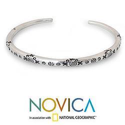 Men's Silver 'Karen Mystique' Cuff Bracelet (Thailand)