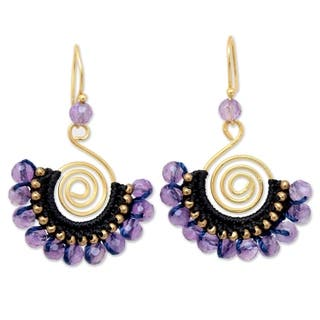 Handmade Gold Overlay and Brass 'Lilac Kiss' Amethyst Earrings (Thailand) https://ak1.ostkcdn.com/images/products/6751185/P14294488.jpg?impolicy=medium