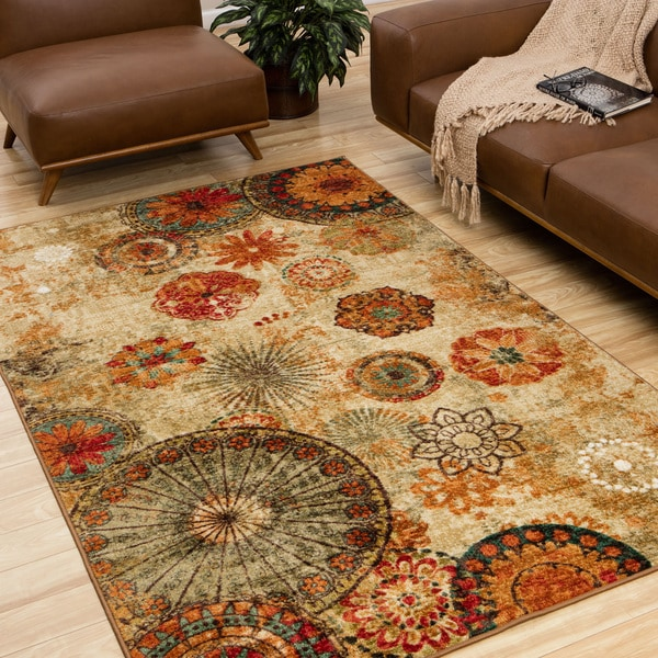 Mohawk Home Strata Caravan Medallion Multicolored Area Rug (5' x 8')