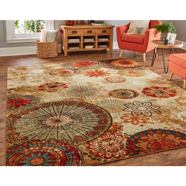 Porch Den Park Circle Bexley Multicolor Medallion Area Rug