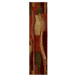 Mohawk Home New Wave Picasso Wine Runner Rug (2' x 8')
