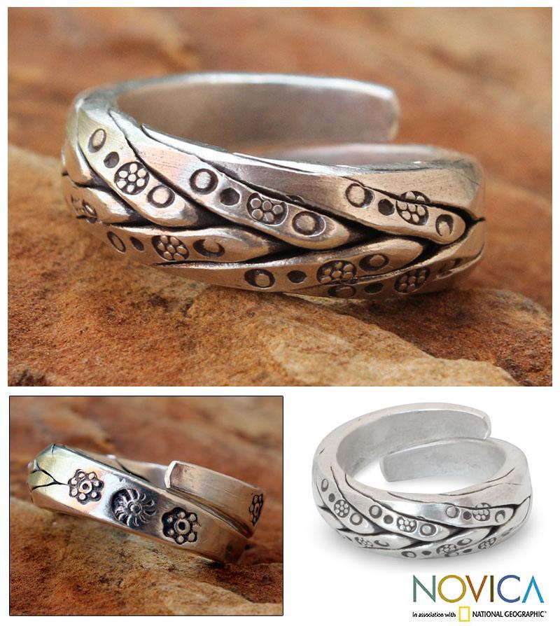Men's Silver 'Karen Hero' Wrap Ring  (Thailand)