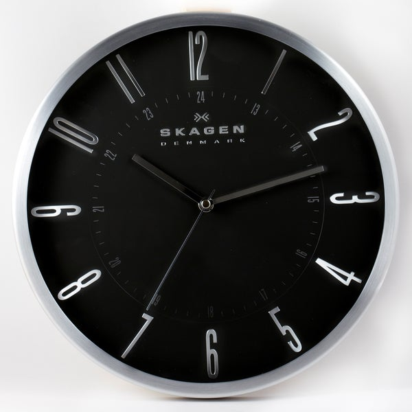 Skagen Stainless Steel 12-inch Wall Clock