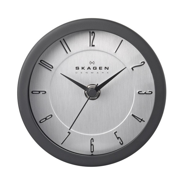skagen stainless steel 5 inch wall clock free shipping today 14294574. Black Bedroom Furniture Sets. Home Design Ideas