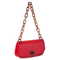 Prada 'Madras' Red Patent Leather Shoulder Bag - Thumbnail 1