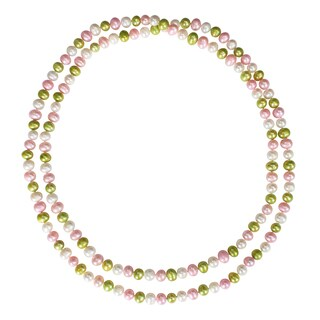 Miadora Multi-colored Cultured Freshwater Pearl Endless Necklace (9.5-10 MM)