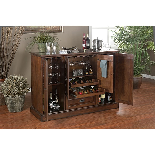 Charlotte 60 inch spice finish home bar 14294610 shopping big discounts on bars - Pictures of bars ...