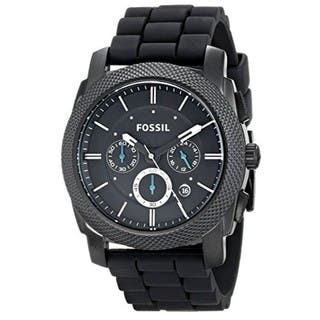 Fossil Men's FS4487 Machine Chronograph Black Dial Watch with Black Silicone Strap|https://ak1.ostkcdn.com/images/products/6751357/P14294619.jpg?impolicy=medium