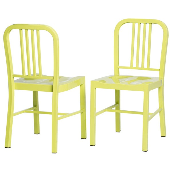 Limeade Metal Side Chair (Set of 2)
