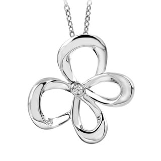 Bridal Symphony Sterling Silver Butterfly Diamond Accent Necklace (I-J, I2-I3)