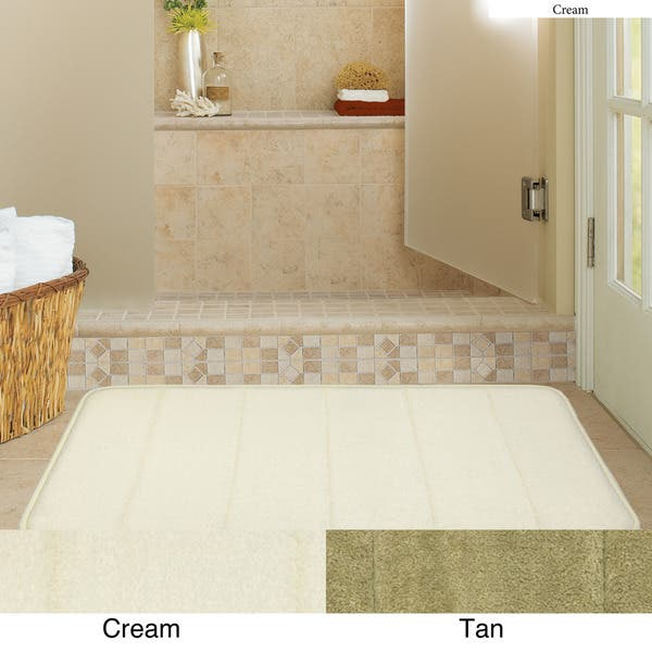 Shop Microfiber Memory Foam 19 5 X 36 Bath Mat Set Of 2 Overstock 6751404