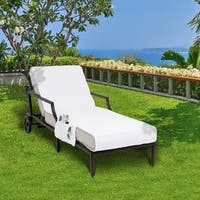 Turkish Cotton Standard Chaise Lounge Chair Towel Cover with Pockets