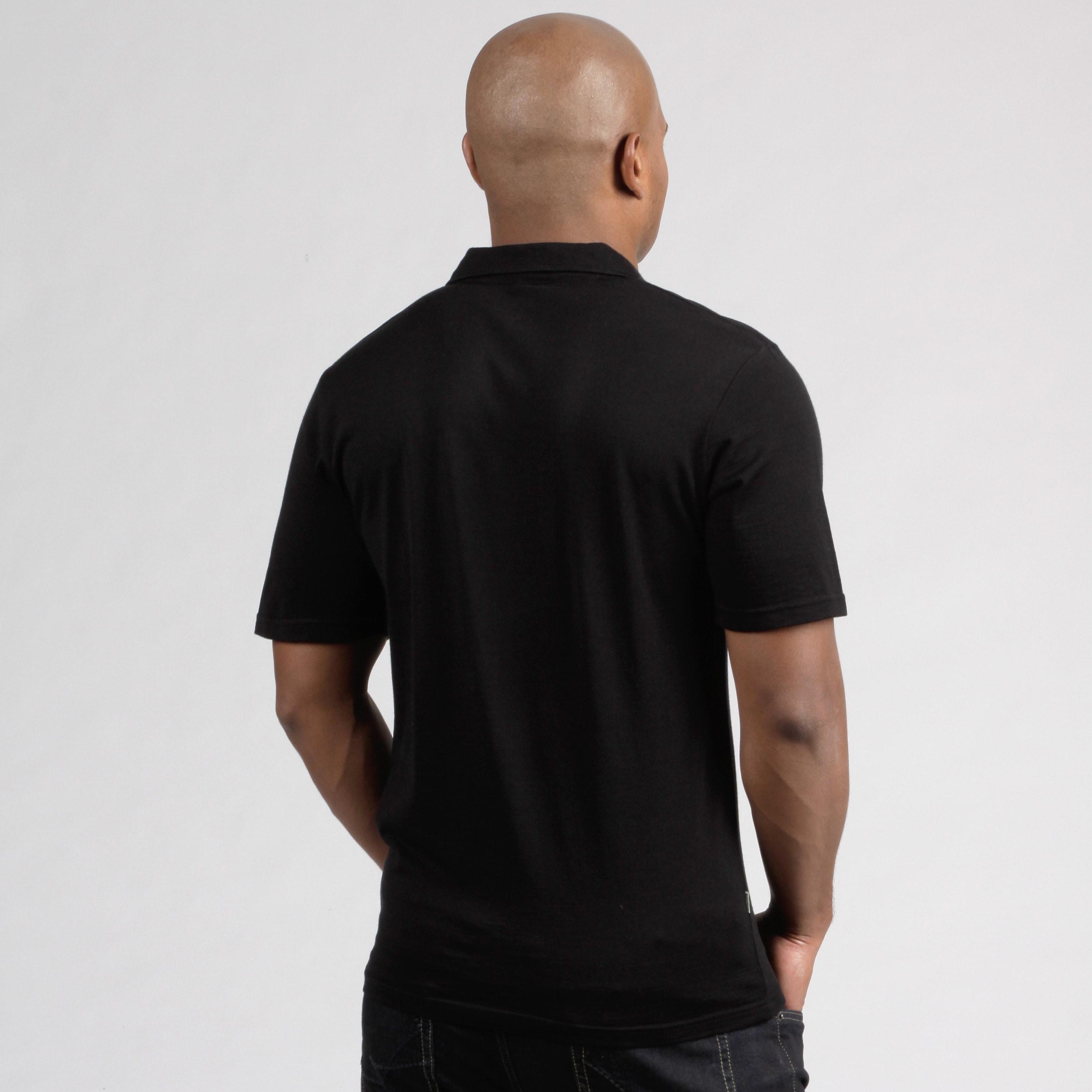 90f267fed3defc Minus33 Men's 'Kearsarge' Black Merino Wool Lightweight Base Layer Polo  Shirt