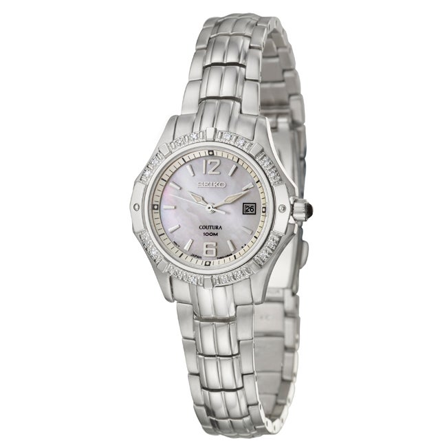 Seiko Women's SXDE19 'Coutura' Stainless Steel Quartz Watch