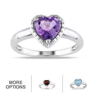 Miadora Sterling Silver Heart-shaped Birthstone Ring|https://ak1.ostkcdn.com/images/products/6751451/P14294669.jpg?impolicy=medium